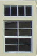 Transom window over shed window