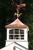 Copper cupola and weather vane