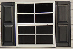 Optional raised panel vinyl shutter