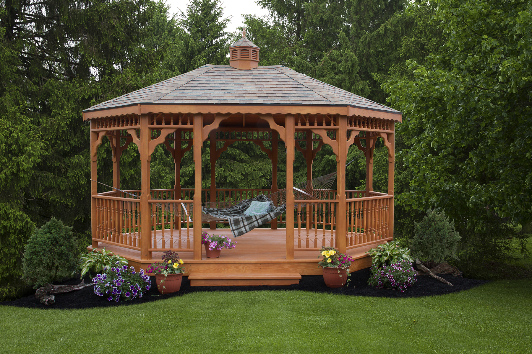 Wooden Oval Gazebo 1