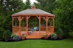 Wooden Oval Gazebo 1