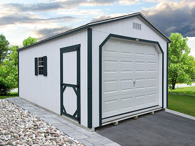 Painted Single Garage 2