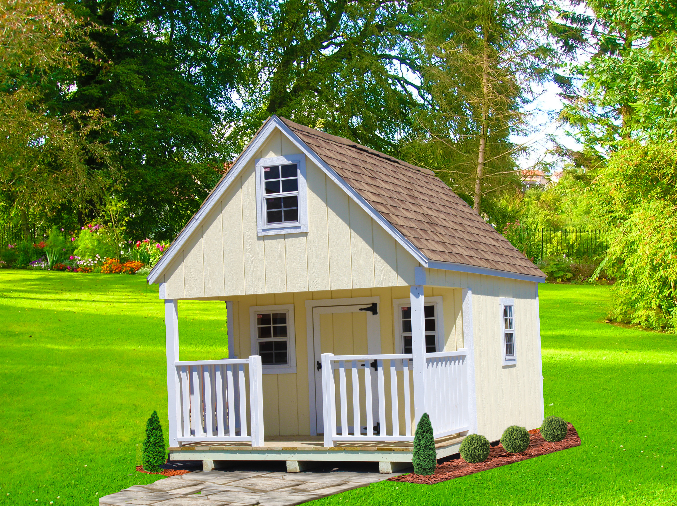 Yellow Cabin Style Playhouse