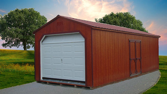 Painted Single Garage 3