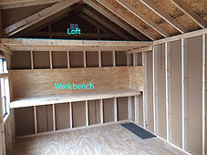 Optional loft and workbench