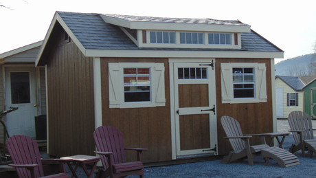 Stained Dormer Shed
