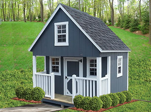 Cabin style playhouse