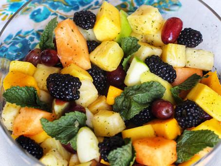 Fruit Salad with Lemon Mint Drizzle