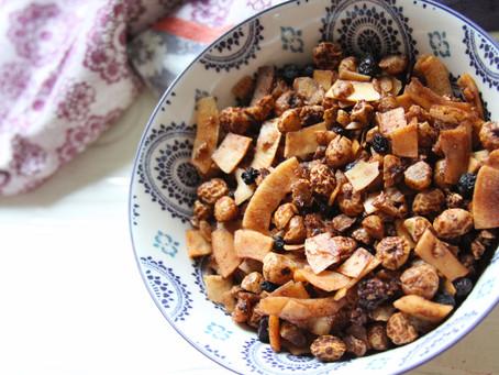 Blueberry Coconut Tiger Nut Granola