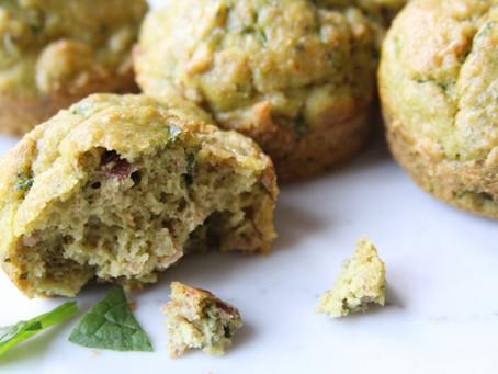 Spinach Prosciutto Muffins