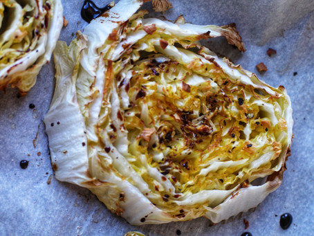 Roasted Cabbage with Balsamic Reduction