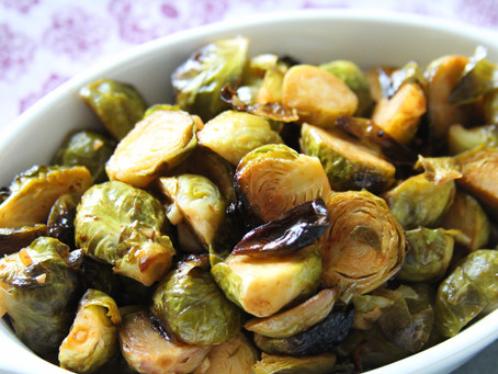 Honey Siracha Roasted Brussel Sprouts