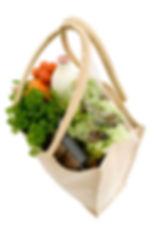 grocieries, bag of salads and milk