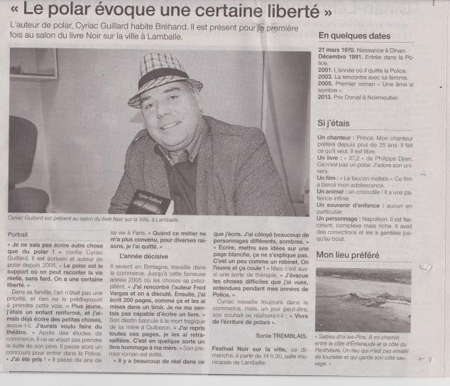 Ouest-France 16 novembre 2014