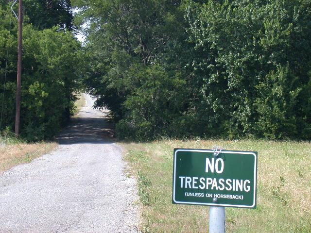 Lucas - No Trespassing Sign.JPG