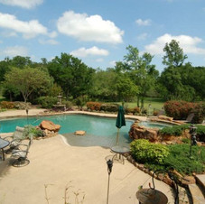 Another Really Impressive Back Yard Setting in Lucas, Texas