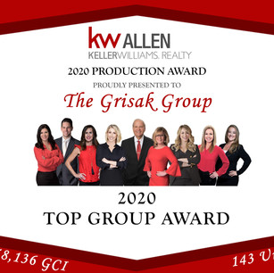 The Grisak Group Finishes #1 in the Allen Keller Williams Office Again