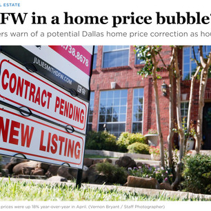 Is D-FW in a home price bubble?  A Dallas Morning News Opinion Article