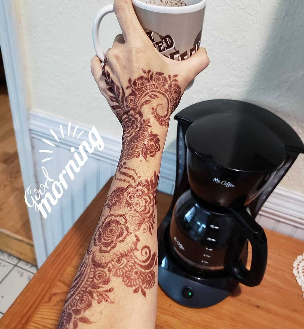 Henna and coffee.