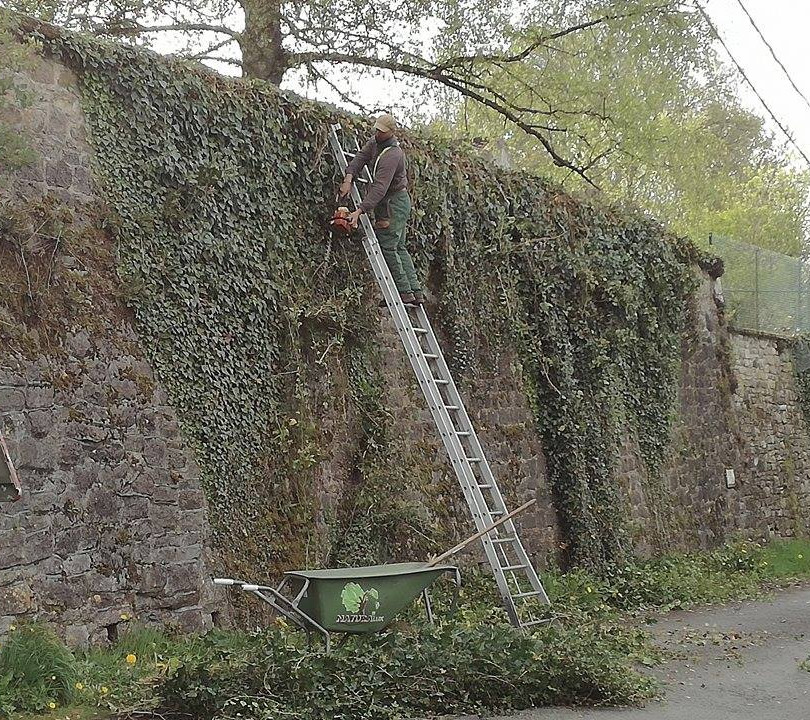 Nettoyage d'un mur