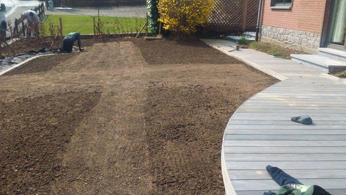 Préparation du sol pour le semis