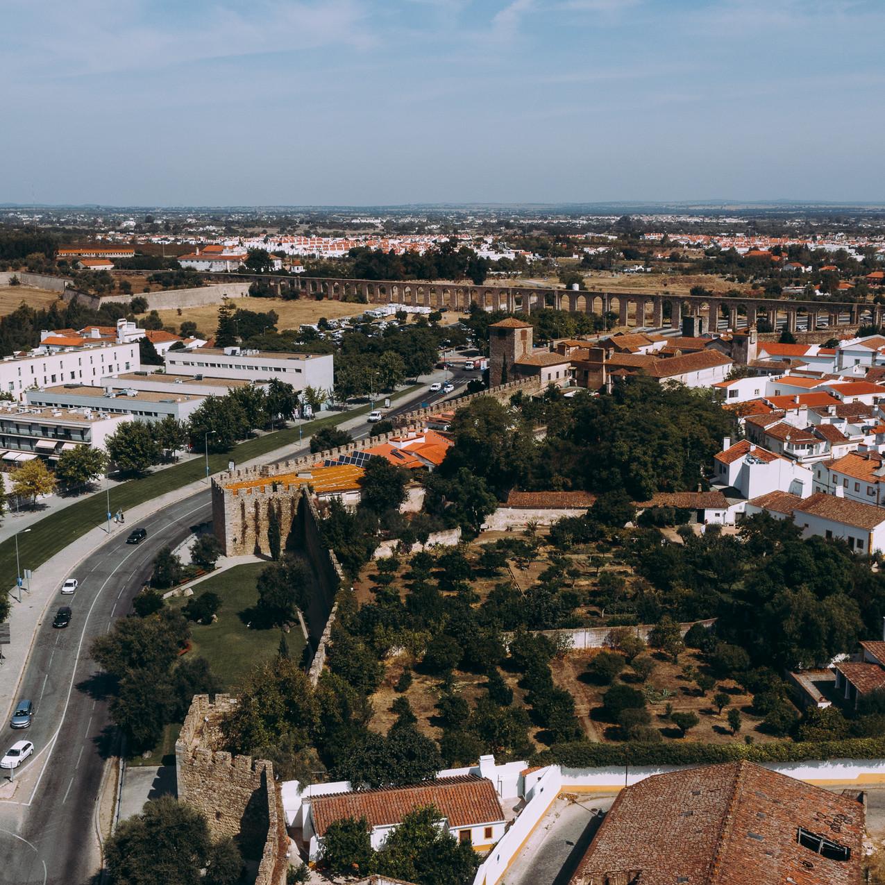 Évora aerial
