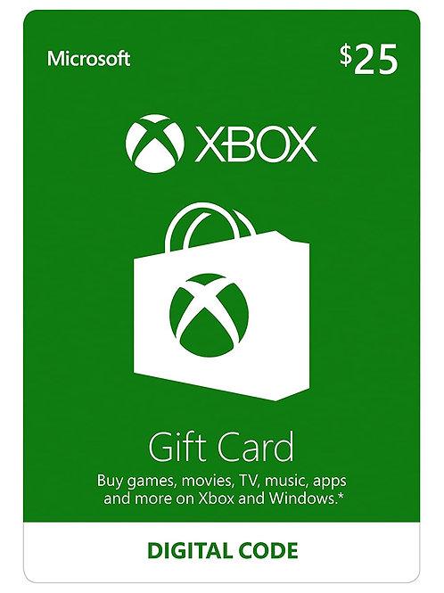X-Box Gift Card ($25 value)