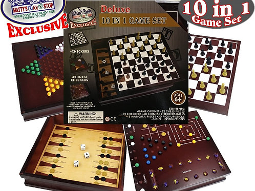 10-in-1 Board Game Set