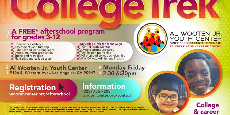 Reopening: CollegeTrek Afterschool Program