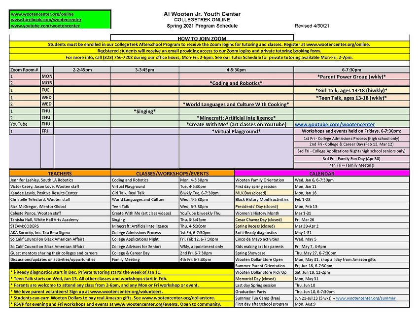 Wooten program schedule spring 4-30-21.j
