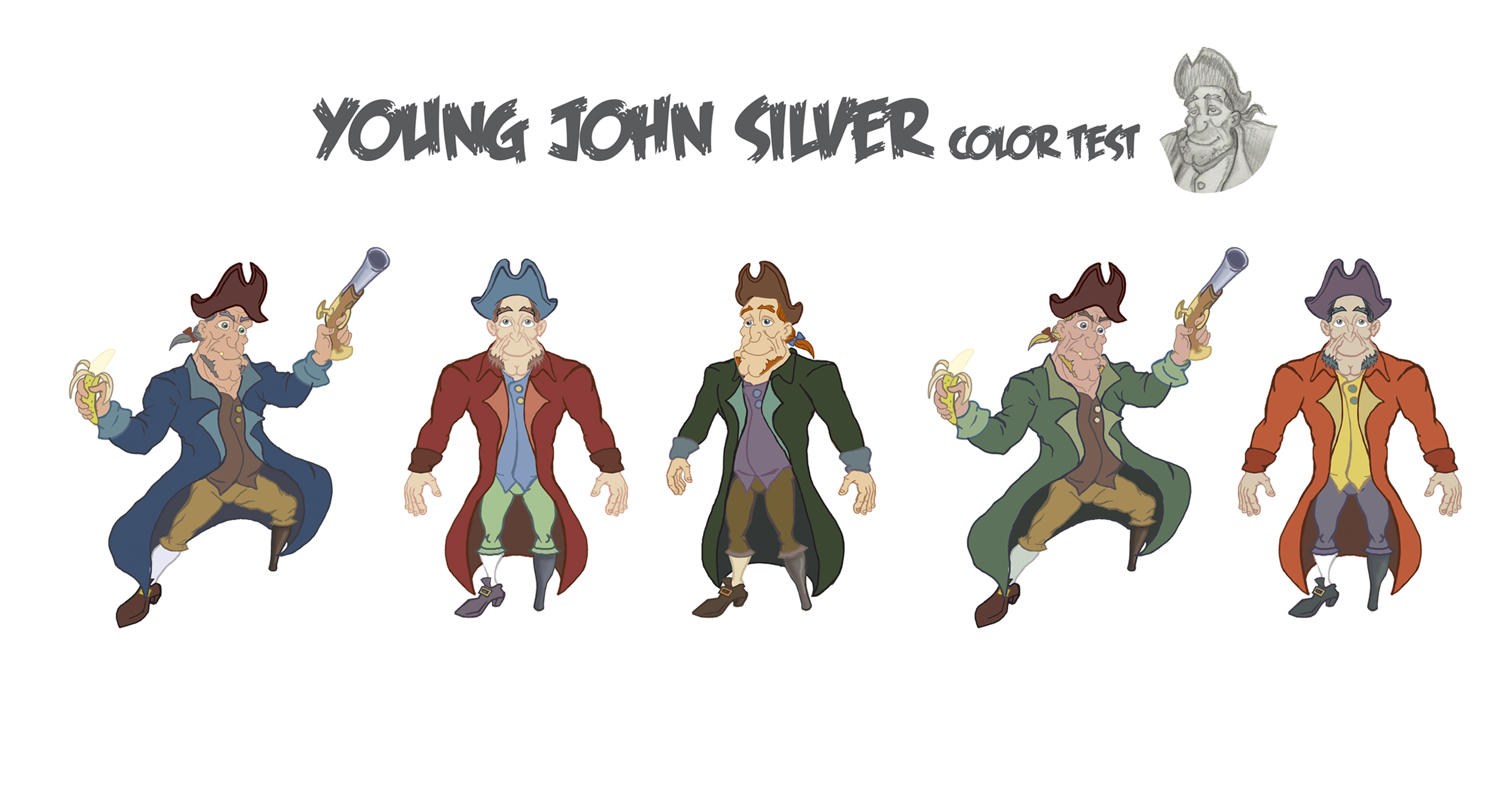 Pirate John Silver Color Test