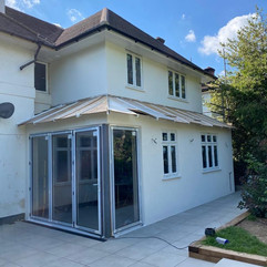Silicone Render Installation to this new build extension in another classic colour