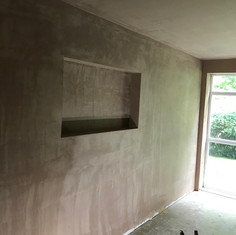 Plastering Cubby Hole for TV