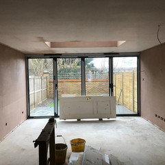Photos from four story town house re plaster - new extension area