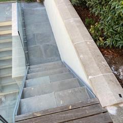 Silicone Render Installation to garden courtyard in 'Silver'.