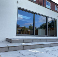 Another example of a 'Platinum' silicone render installation using @ewi to compliment our clients extension design.
