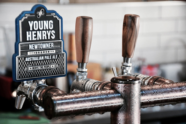 Serving Young Henry's Beer On Tap at Casanova's
