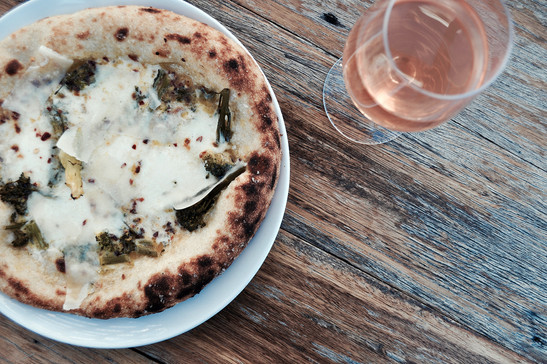 House-made Sourdough Pizza Bases and Wine