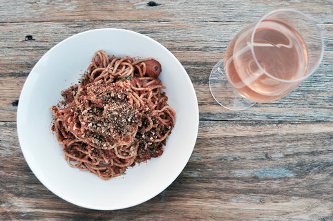 Fresh House-made pasta and Rose