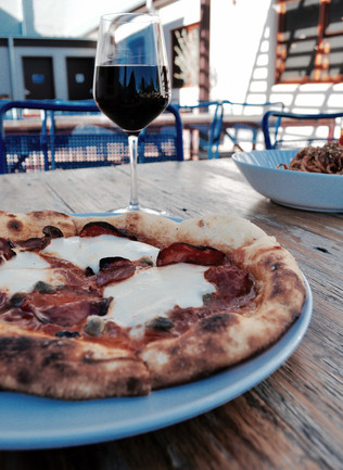 House-made Pizza and Pasta in the Casanova's Courtyard