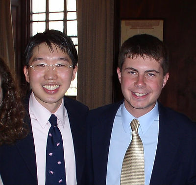 Senator Chang and Pete Buttigieg.