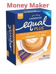 Money Maker on Equal Sweetener at Publix