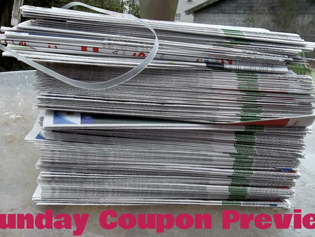 Three Inserts this week. Sunday Coupon Preview for 4/5!