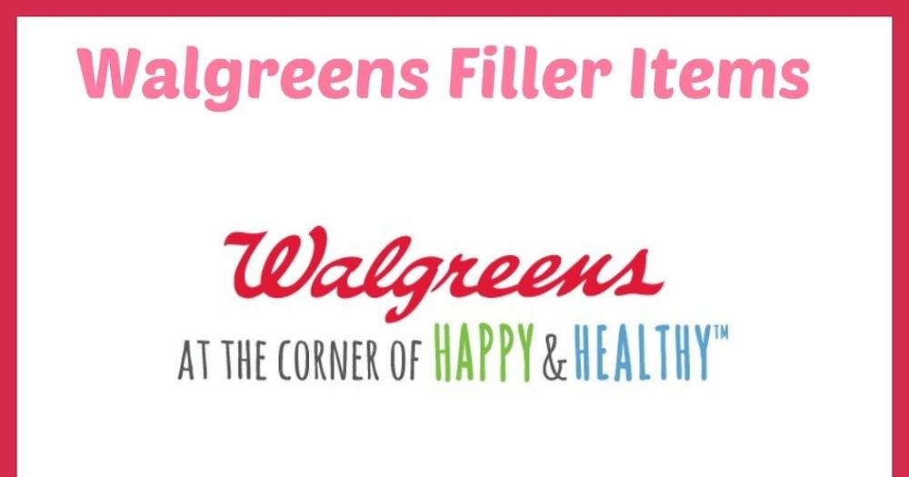 Walgreens filler items