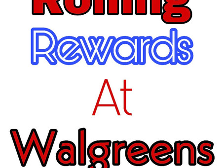 Rolling Register Rewards at Walgreens, for the week of 3/15!