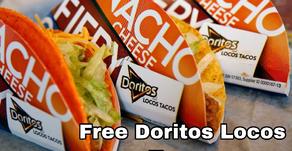 April 7th-Free Doritos Locos Tacos at Taco Bell Drive-Thru