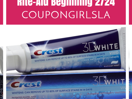 Free Crest Toothpaste at Rite-Aid Beginning 2/23