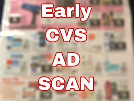 Early CVS Ad Scan, Beginning 3/1