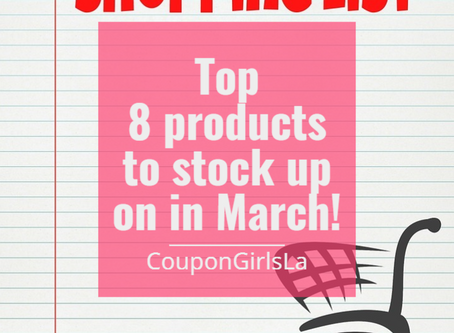 Top 8 products to stock up on in March!
