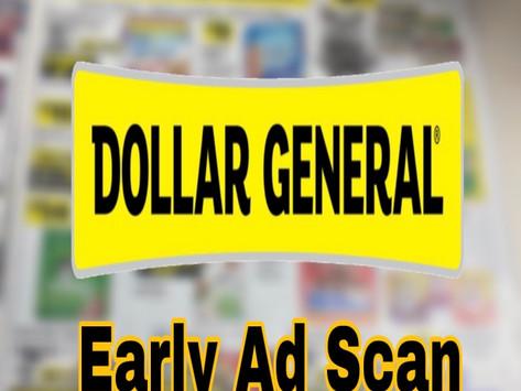 Dollar General Early Ad Scan     Beginning 10/17!